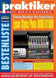 Epson Stylus PhotoR800/R1800: Tinten-Drucker für ... - Praktiker.at