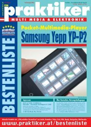 Samsung Yepp YP-P2: Pocket-Multimedia-Player - ITM ... - Praktiker.at