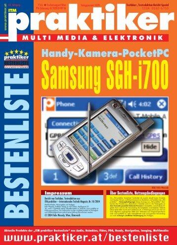 Samsung SGH-i700: Handy-Kamera-PocketPC - ITM ... - Praktiker.at