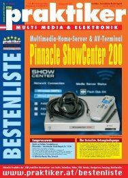 Pinnacle ShowCenter 200: Multimedia-Home-Server ... - Praktiker.at
