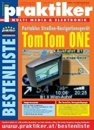 TomTom ONE: Portables Straßen-Navigationsgerät ... - Praktiker.at