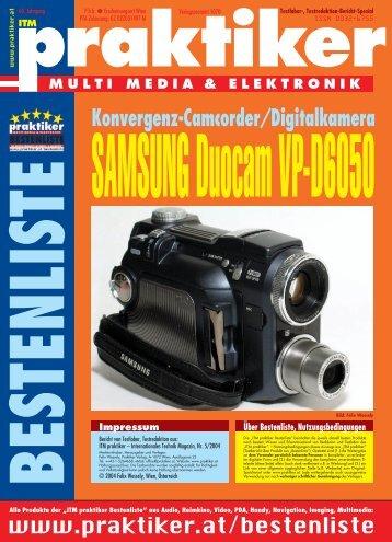 """Testbericht Samsung Duocam VP-D6050 aus """"ITM ... - Praktiker.at"""