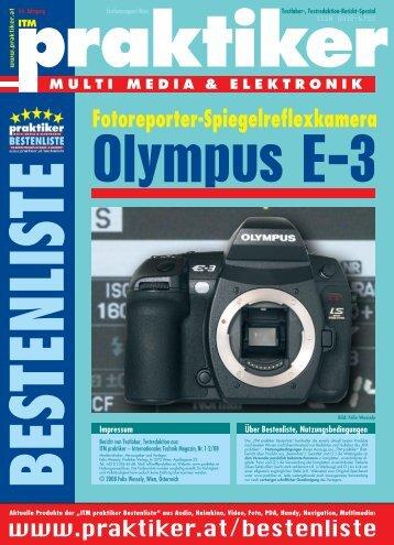 Olympus E-3: Fotoreporter-Spiegelreflexkamera - ITM ... - Praktiker.at
