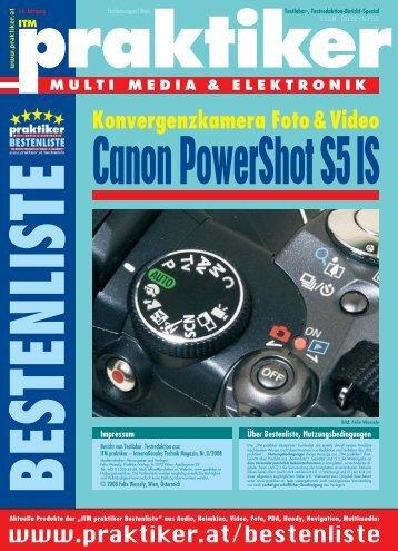 Canon PowerShot S5 IS: Konvergenzkamera Foto ... - Praktiker.at