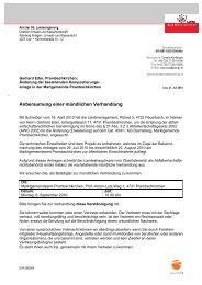 Anberaumung einer mündlichen Verhandlung - Prambachkirchen