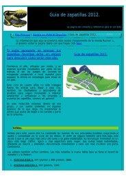 Guia de zapatillas 2012. - Pag. Principal