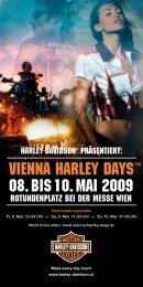 VIENNA HARLEY DAYS™ 08. BIS 10. MAI 2009 - im Wiener Prater