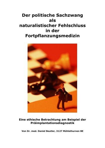 Der politische Sachzwang als naturalistischer ... - Daniel Beutler