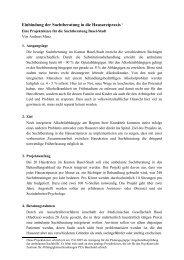 Projektskizze Suchtberatung und Hausarzt im Kanton ... - Praxis T-15