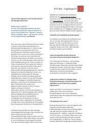 PAT Info – Impfungen II - Praxis Dr. Blume