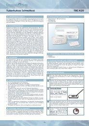 Produktbeschreibung zum Tuberkulose-Test - Praxisdienst