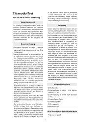 Chlamydia-Test - Praxisdienst