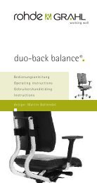 duo-back balance® - Design Zentrum