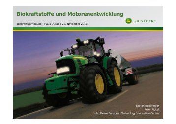 Biokraftstoffe und Motorenentwicklung