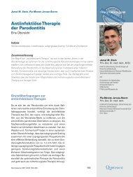 Antiinfektiöse Therapie der Parodontitis - Zahnärztliches ...