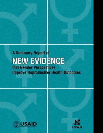 A Summary Report of New Evidence That Gender - Population ...