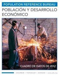 Población y desarrollo económico - Population Reference Bureau