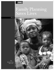 Family Planning Saves Lives - Population Reference Bureau