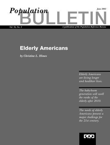 Elderly Americans - Population Reference Bureau