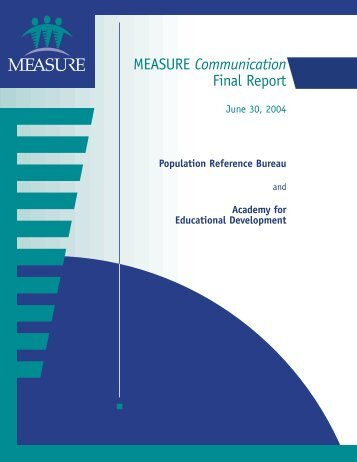 MEASURE Communication Final Report - Population Reference ...