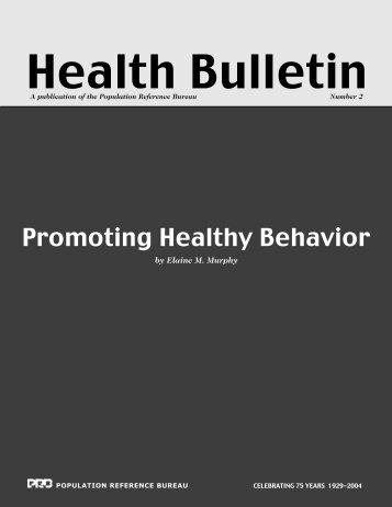 Promoting Healthy Behavior - Population Reference Bureau