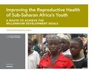 Improving the Reproductive Health of Sub-Saharan Africa's Youth