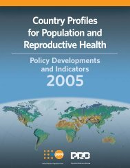 Country Profiles for Population and Reproductive Health: Policy ...