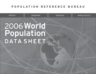 2006 World Population Data Sheet - Population Reference Bureau