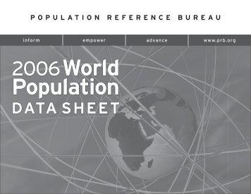 2006 World Population Data Sheet - Population Reference Bureau