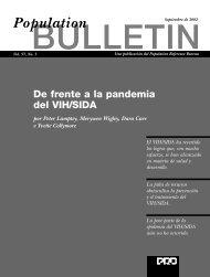 De frente a la pandemia del VIH/SIDA - Population Reference Bureau