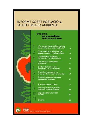 Informe sobre población, salud y medio ambiente - Population ...
