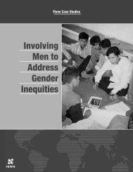 Involving Men to Address Gender Inequities - Population Reference ...