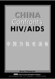 China Confront HIV/AIDS - Population Reference Bureau
