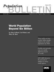 World Population Beyond Six Billion - IGWG