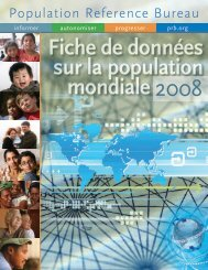 Fiche de données sur la population mondiale 2008