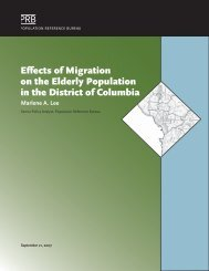 Effects of Migration on the Elderly Population in the District of ...