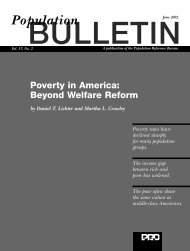Poverty in America: Beyond Welfare Reform - Population Reference ...