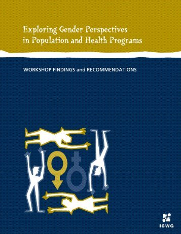 Exploring Gender Perspectives in Population and Health Programs ...