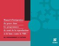 Manuel d'intégration du genre dans les programmes de ... - IGWG