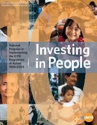 National Progress in Implementing the ICPD Programme of ... - UNFPA