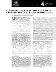 Las reformas en el sector de la salud y sus efectos en la salud ...