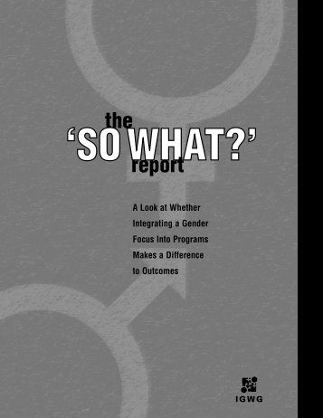 'So What?' Report - Population Reference Bureau