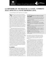 La réforme du secteur de la santé - Population Reference Bureau