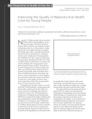 Improving the Quality of Reproductive Health Care for Young People