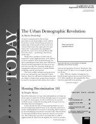 The Urban Demographic Revolution - Population Reference Bureau
