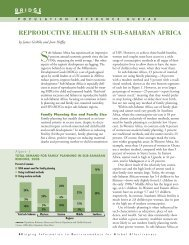 Reproductive Health in Sub-Saharan Africa - Population Reference ...
