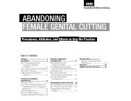 Abandoning Female Genital Cutting - Population Reference Bureau