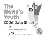The World's Youth 2006 Data Sheet - Population Reference Bureau