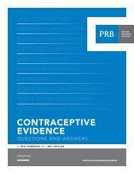 Contraceptive Evidence - Population Reference Bureau