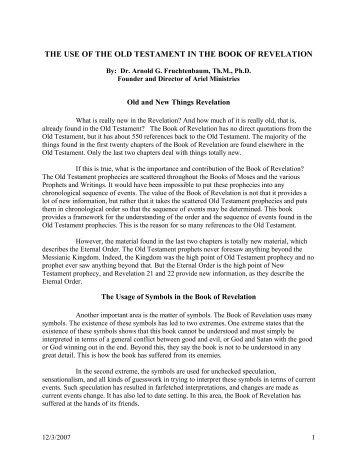 A Case For The Futurist Interpretation Of The Book Of Revelation